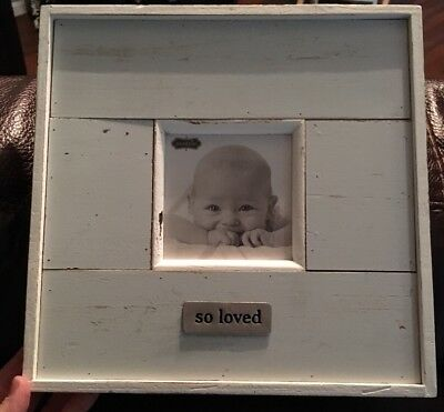 Mud Pie Picture Frame Baby Boy Nursery Picture Frame, New