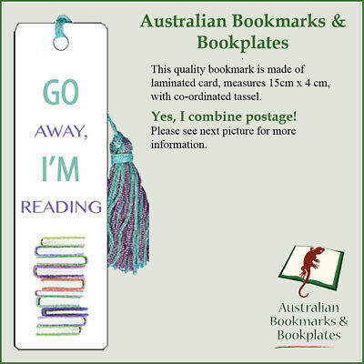 Go Away, I'm Reading bookmark with tassel