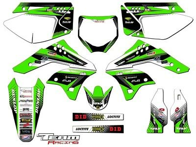 TEAL DECAL 2006 2007 2008 KXF 250 GRAPHICS KIT KAWASAKI THROWBACK MAGENTA