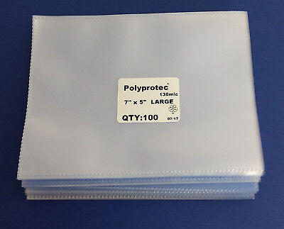 Polyprotec Postcard & Cover Sleeves - Wallets 7 x 5 inch