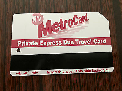Vintage Rare Private Express Bus Travel Card NYC 98 Expired MetroCard