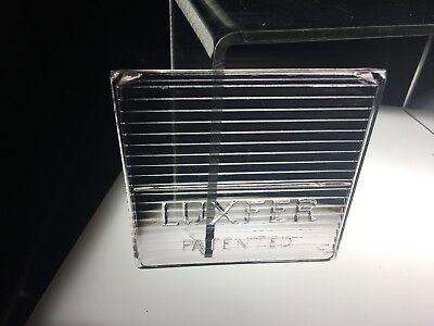 RARE antique LUXFER PATENTED prism GLASS TILE  DECO eapg industrial