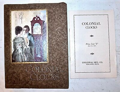 Colonial Manufacturing Co. Colonial Clocks Catalogue Dated 1931  (Tall Clocks)
