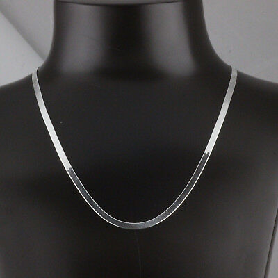Solid 925 Sterling Silver Magic Herringbone Gauge 040-4mm  Chain Necklace Italy