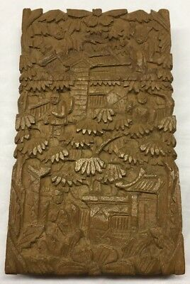 vintage hand carved wood Calling card case Very Unique