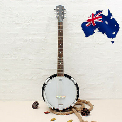 AU STOCK 6-string Banjo Exquisite Professional Sapelli Notopleura Wood Alloy