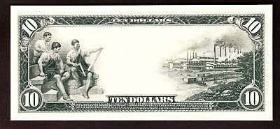 Proof Print or Intaglio Impression by BEP - Back of 1915 $10 Fedl Res Bank Note