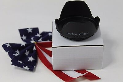 58mm Tulip Flower Lens Hood for  Canon EOS Rebel T6i T5i T4i T3i T2i