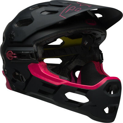 Bell Super 3R Helmet With Mips Matte Red / Black Full Face Downhill Mtb