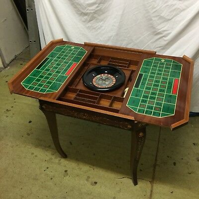 Vintage Italian Lacquered Wood Gaming Table