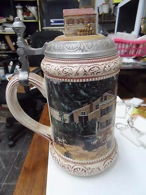 miller brewing company 1855 carolina collection lidded beer stein no 01220