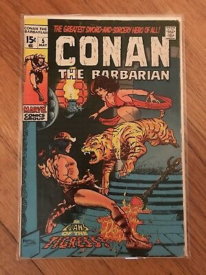 Conan The Barbarian (1970) #5 1st Print Marvel Comics Good Condition