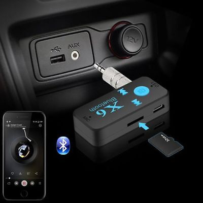 Wireless Bluetooth Audio Receiver Stereo Music Car Adapter & Mic 3.5mm AUX