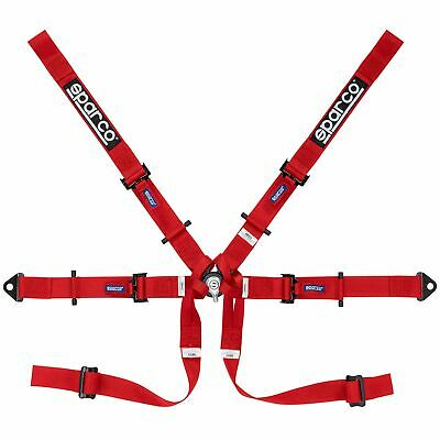 Sparco 6 Point Single Seater Race Racing Car Harness - Red