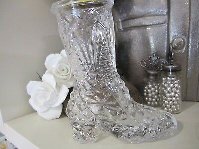 Glass boot/shoe collectible/Vase
