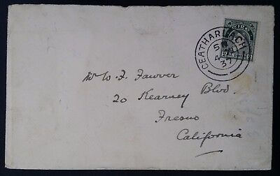 RARE 1937 Ireland Cover ties 2P green Map stamp canc Ceatharlach to USA