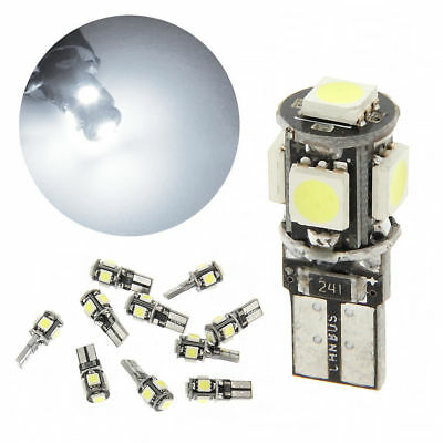 10x T10 LED 5 SMD 5050 w5w Weiß Standlicht Canbus Fehlerfrei for Car Light Repla