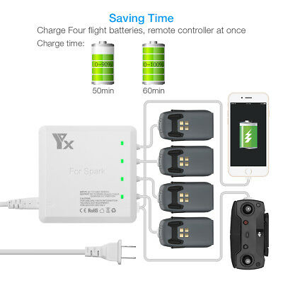 6 in 1 Rapid Parallel Battery Charger Multi Charging Hub for DJI Spark Drone