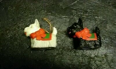 Lot Of 2 Vintage  Ceramic Terrier Dog Figurines Made In Japan Good Condition