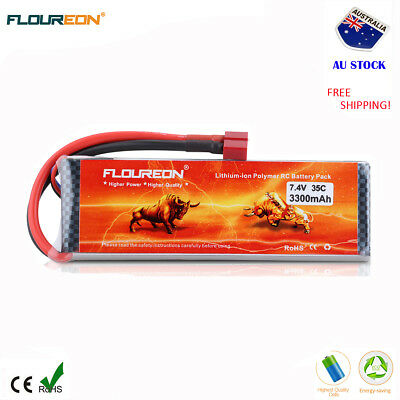 2S 7.4V 3300mAh 35C LiPo Battery Deans for RC Car Airplane Helicopter Truck Boat