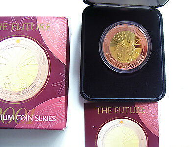"""2001 $10 Silver Proof Coin: """"The Future."""""""