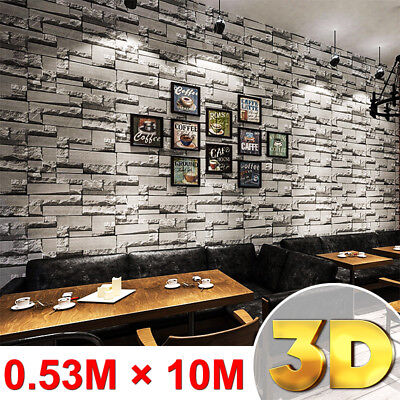 10M ARTHOUSE RUSTIC Brick Stone Effect Wallpaper Wall Paper Home Art Decor Decal