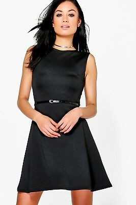 b30a343403614 BOOHOO PLUS EMILY Lace Skater Dress - US 12 - Black - NWT -  25.10 ...
