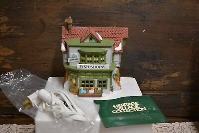 "Dickens' Village Series ""The Mermaid Fish Shoppe"" Dept. 56 #5926-9 Retired 1993"