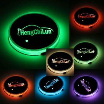 Solar USB LED 7 Color Cup Holder Car SUV Bottom Pad Mat Cover Trim Lamp RLTS