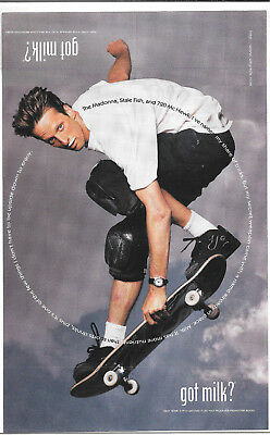1998 SKATEBOARDER TONY HAWK -Got Milk? VINTAGE AD