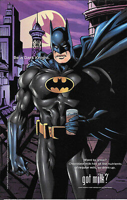 2000 BATMAN BE A DARK KNIGHT -Got Milk? VINTAGE AD