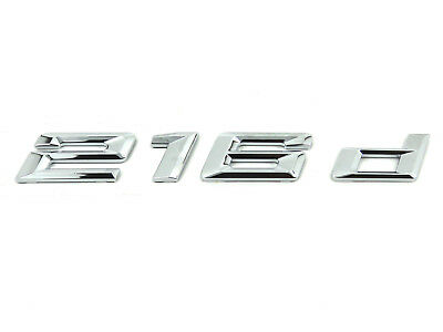 Genuine New Style BMW 216d REAR BADGE Boot Emblem 2 Series Active Gran Tourer