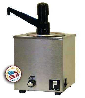 Commercial 32oz 2 Cup Theater Popcorn Butter Warmer Dispenser Pump Professional