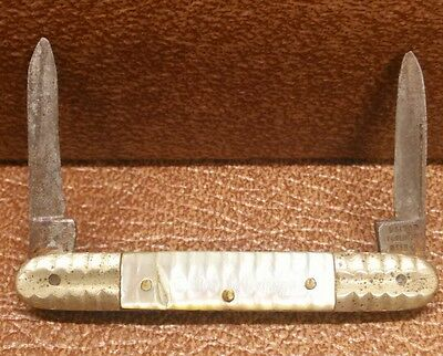 ~RARE~ VTG Miniature pocket knife Untied Cutlery Germany Mother of Pearl Handle