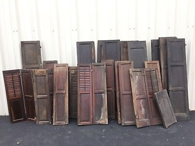 Antique Eastlake Victorian Style And Long Wooden Shutters Large Lot