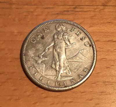 1908-S Philippines One Peso Silver Coin