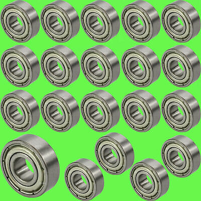 ► 696 ZZ Kugellager 6 x 15 x 5 mm Rillenkugellager 6 mm Welle Miniatur 10 Stk