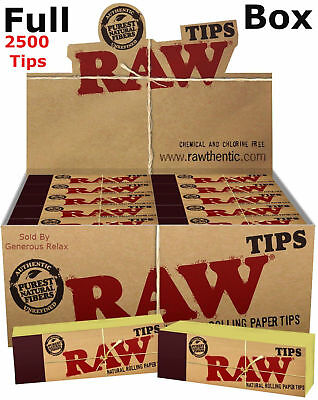 RAW Rolling Paper Roach Filter Tips Chlorine Free Filter tips