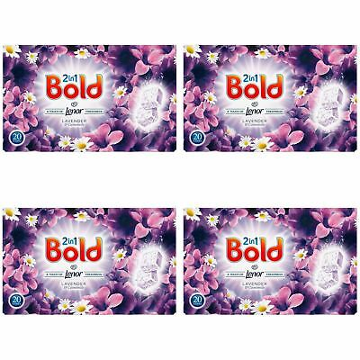 Bold 160 Tablets Washing Laundry Detergent Lavender Camomile Lenor Tabs 80 Wash