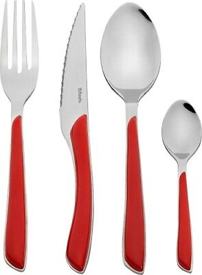 Amefa Eclat 24 Piece Boxed Cutlery Set Stainless Steel - Red Handles