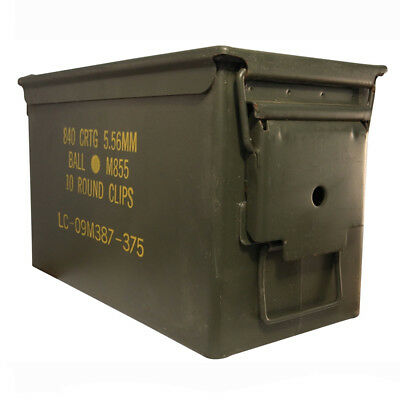 Ammo Can US Military M2A1 50 Cal Ammunition Metal Storage US ARMY