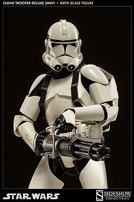SideShow Collectibles Clone Trooper Deluxe (Shiny) Star Wars 12 Inch 1/6 Scale