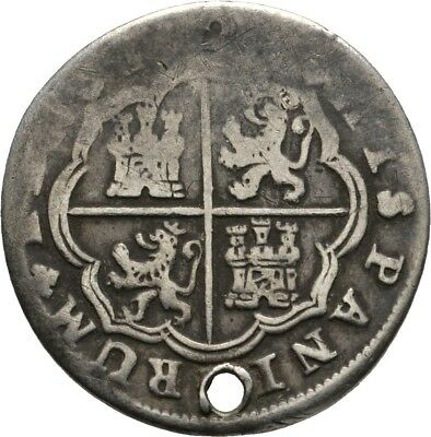 Lanz Spain Hispania Felipe V 2 Reales Madrid Castell Arms Silver ±Ask652