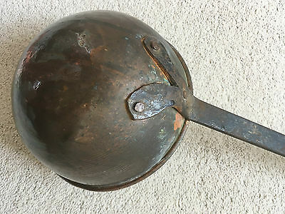 Antique Arts Crafts Victorian Architectural Copper Wrought Iron Milk Ladle 1890