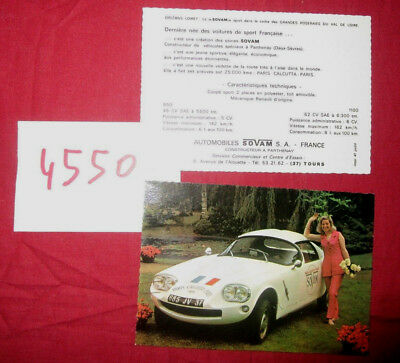 N°4550  /  carte postale couleur automobile SOVAM