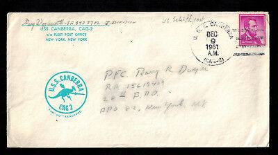 U.S.S. CANBERRA CAG 2 - 1961 New York - Schiffspost - EF