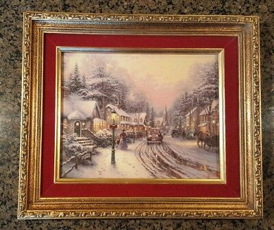 """Village Christmas"" by Thomas Kinkade Treasured Memories Framed Print Gift"