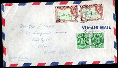 Aruba: 1946 Airmail cover to Wrexham from St. Nicolaas