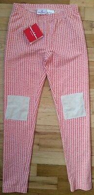 NWT Hanna Andersson BALLET PINK Knee Patch FLORAL Livable Leggings 140 9 10  11 107a22159