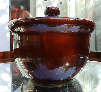Vintage English Stoneware : A Denby lidded Stew / Soup Bowl - 5 Available